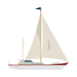 Sailing yacht ship icon
