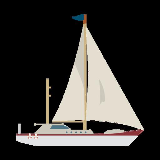 Ícone de navio de iate à vela Transparent PNG