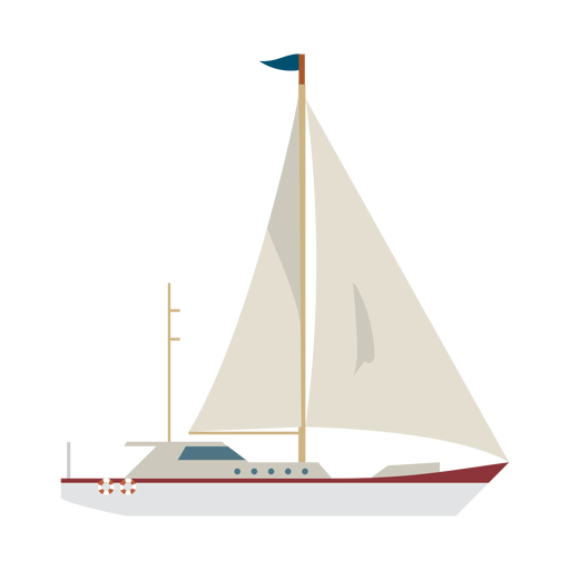 Sailing yacht ship icon
