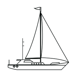 Línea de barco para yates de vela