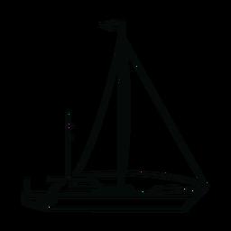 Linha de iates à vela