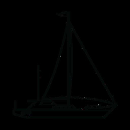Sailing yacht ship line