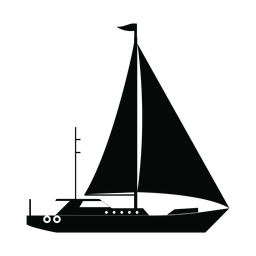 Sailing yacht ship silhouette