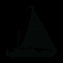 Silhueta de iate à vela