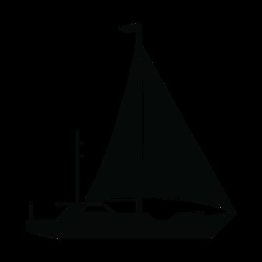 Silueta de barco de yate de vela Transparent PNG