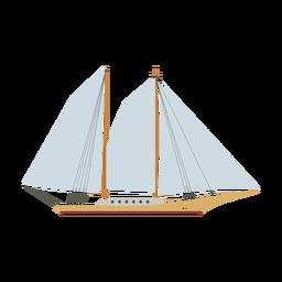 Ícone de navio de escuna