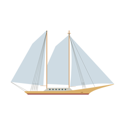 Schooner ship icon
