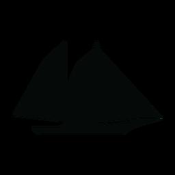 Schooner ship silhouette