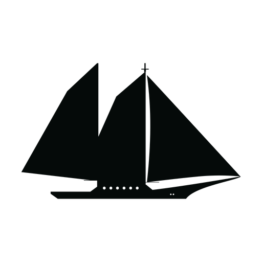 Schoner Schiff Silhouette Transparent PNG