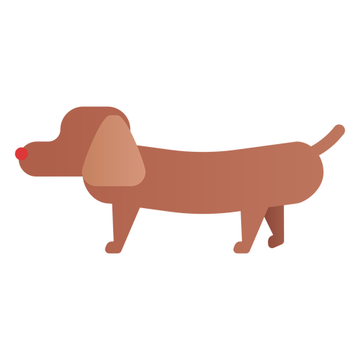 Einfache Hundeillustration Transparent PNG
