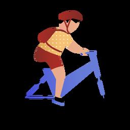 Bycicle de equitação de filho