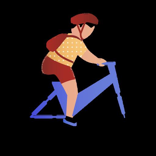 Hijo montando bicicleta