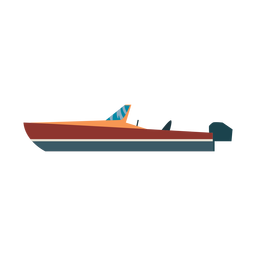 Speedboat boat icon