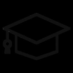 Square academic cap line