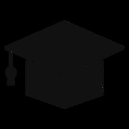 Silhueta de boné acadêmico quadrado
