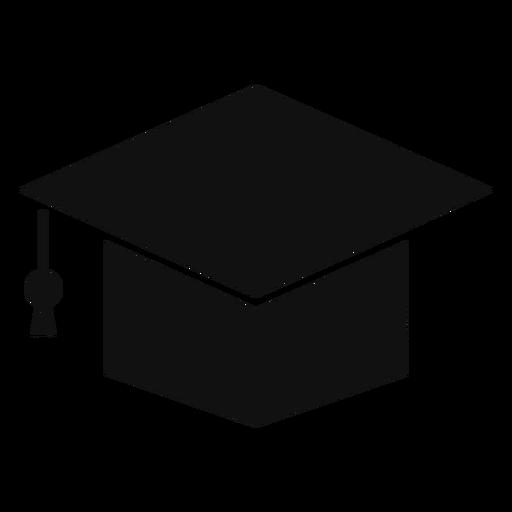 Square academic cap silhouette Transparent PNG