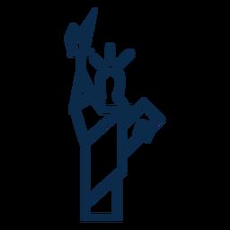 Estátua da liberdade plana