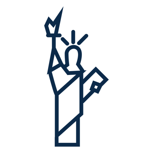 Estátua da liberdade plana Transparent PNG