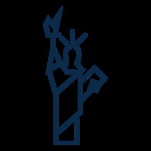 Estatua de la libertad plana Transparent PNG