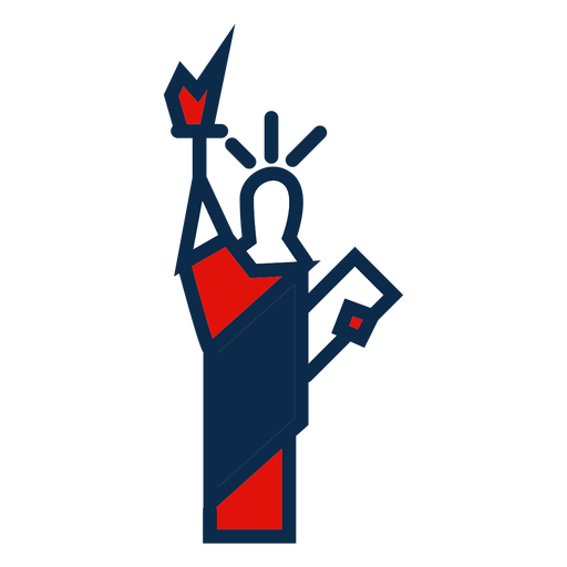 Icono de la estatua de la libertad Transparent PNG
