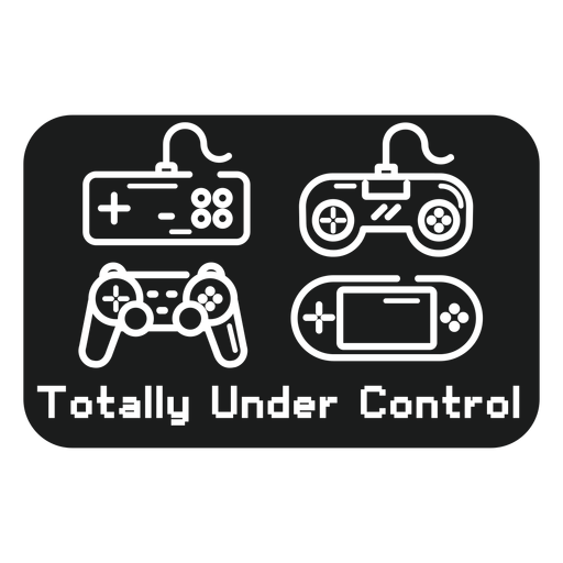 Totally under control t shirt graphic Transparent PNG
