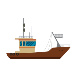 Transport ship icon