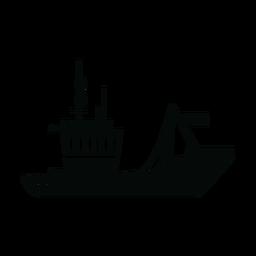 Silhueta de navio de transporte