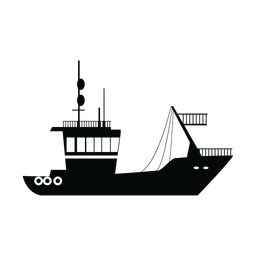 Transport ship silhouette