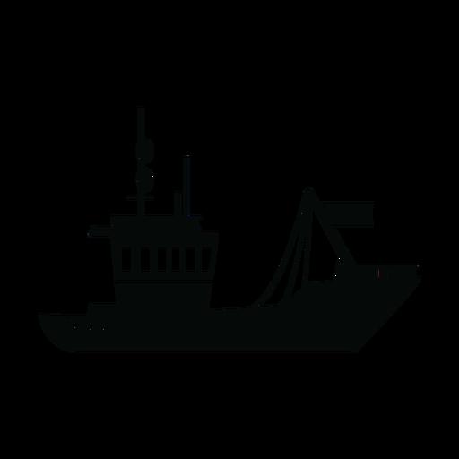 Silueta de la nave de transporte Transparent PNG