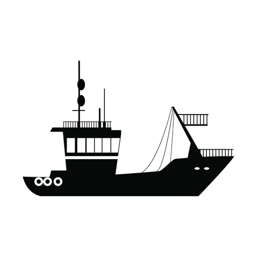 Transport ship silhouette Transparent PNG