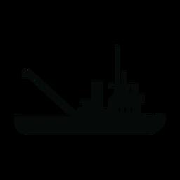 Schlepper Schiff Silhouette