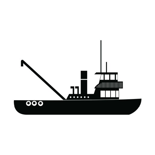 Schlepper Schiff Silhouette Transparent PNG