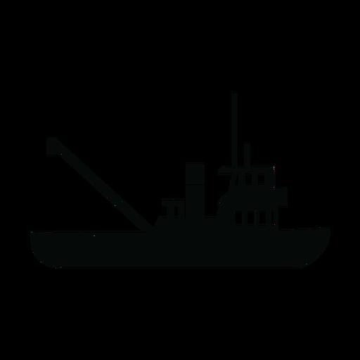 Silhueta de navio rebocador
