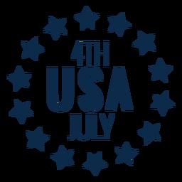 EUA círculo de estrelas planas