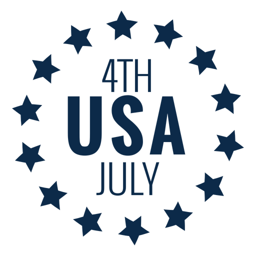 Usa circle of stars flat Transparent PNG