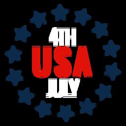 Icono de círculo de estrellas de Estados Unidos