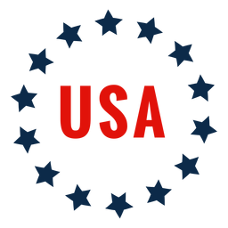 Usa circle of stars icon