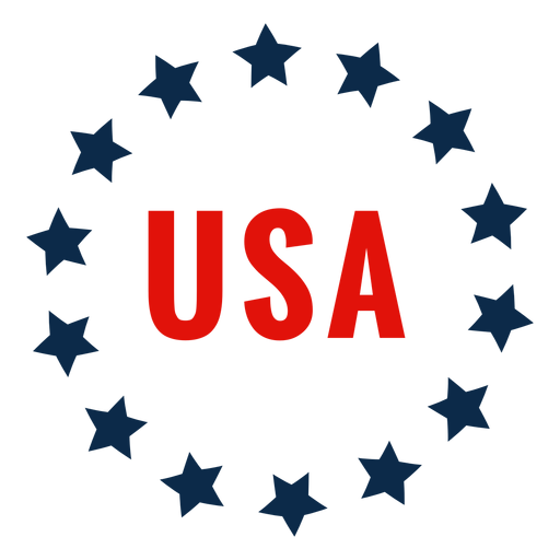 Usa circle of stars icon Transparent PNG