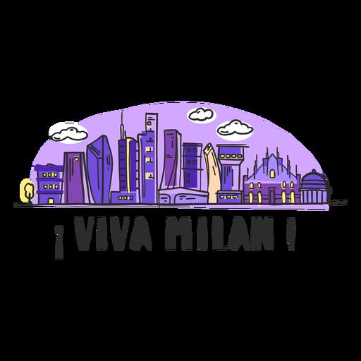 Desenhos animados da skyline de Viva Milão Transparent PNG