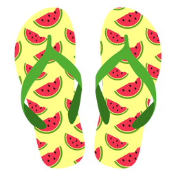 Watermelon slices flip flops
