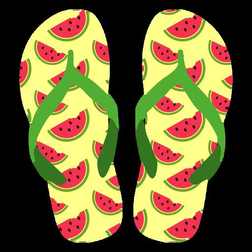 Watermelon slices flip flops