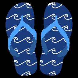 Olas flip flops patrón