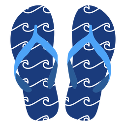 Waves pattern flip flops