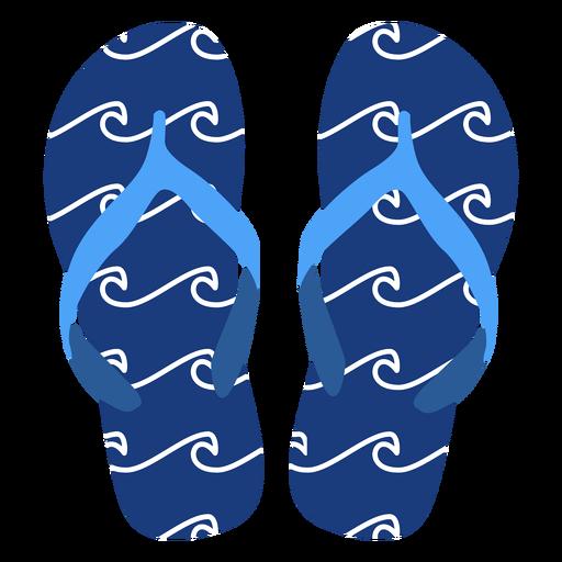 Olas flip flops patrón Transparent PNG