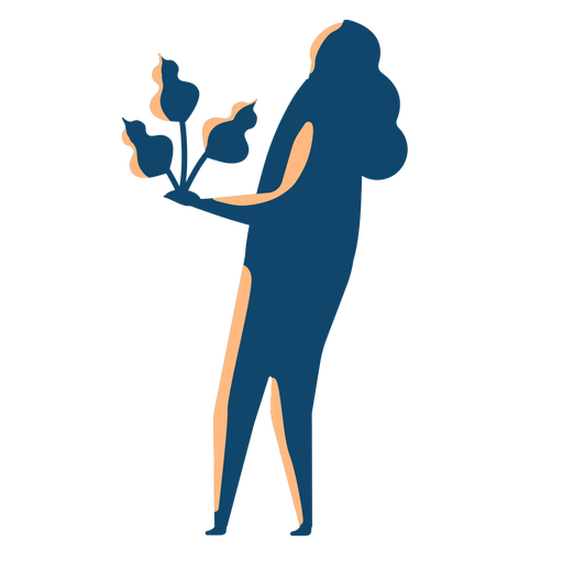 Woman holding tree silhouette Transparent PNG