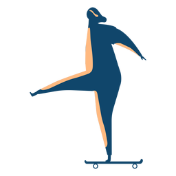 Frauenreitskateboardschattenbild