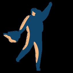 Frau mit Wasserschattenbild