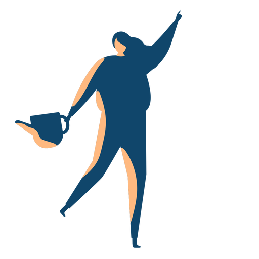 Woman with water silhouette Transparent PNG
