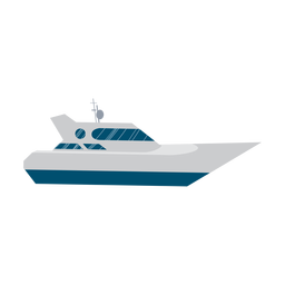 Yacht ship icon