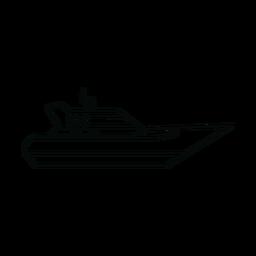 Linha de navio iate